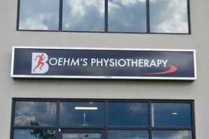 Black Sign for Boehm's Physiotherapy Martensville