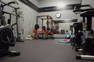 Interior Gym of Boehm's Physiotherapy Martensville